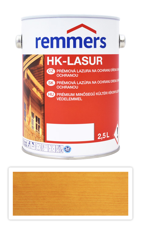 REMMERS HK-lasur - ochranná lazura na dřevo pro exteriér 2.5 l Dub světlý