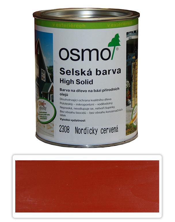 Selská barva OSMO 0.75l Nordicky červená 2308