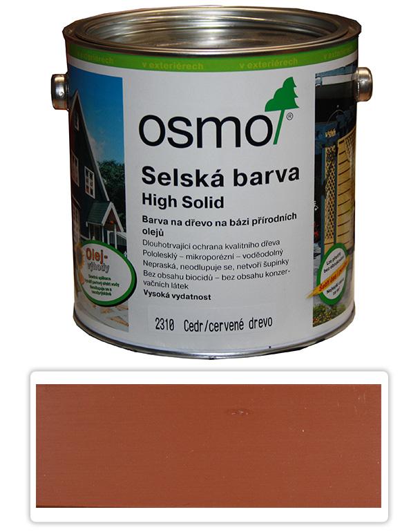 Selská barva OSMO 2.5l Cedr-červená 2310