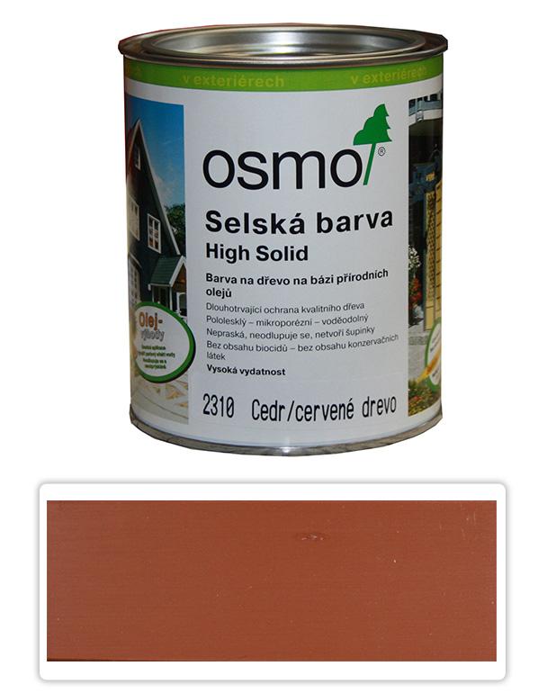 Selská barva OSMO 0.75l Cedr-červená 2310