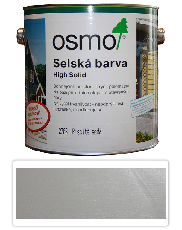 Selská barva OSMO 2.5l Písková šeď 2708