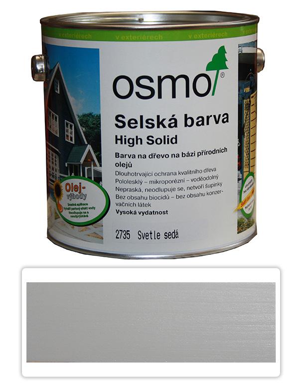 Selská barva OSMO 2.5l Světle šedá 2735