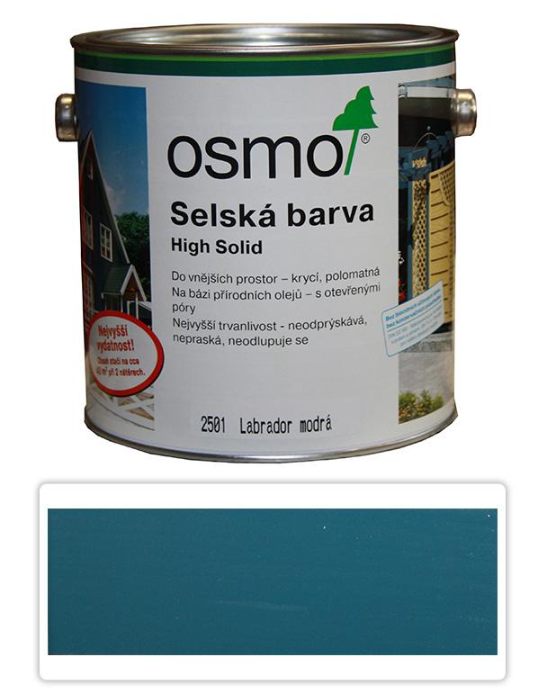 Selská barva OSMO 2.5l Labr. modrá 2501