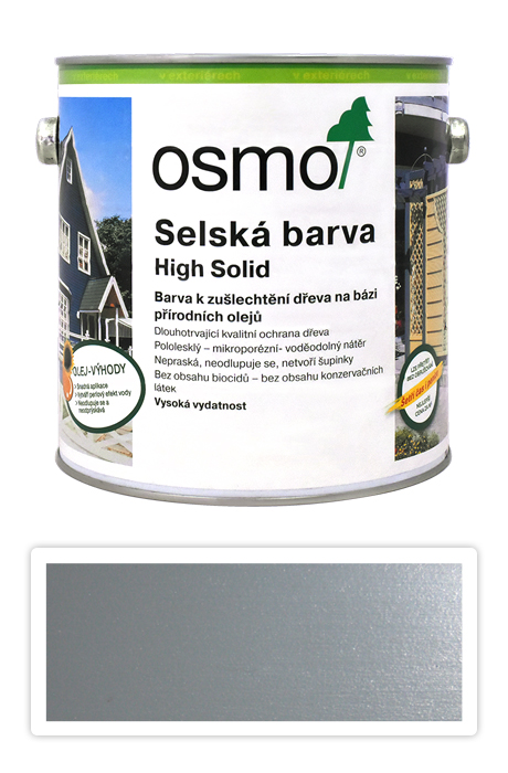Selská barva OSMO 2.5l Silniční šedá 2742