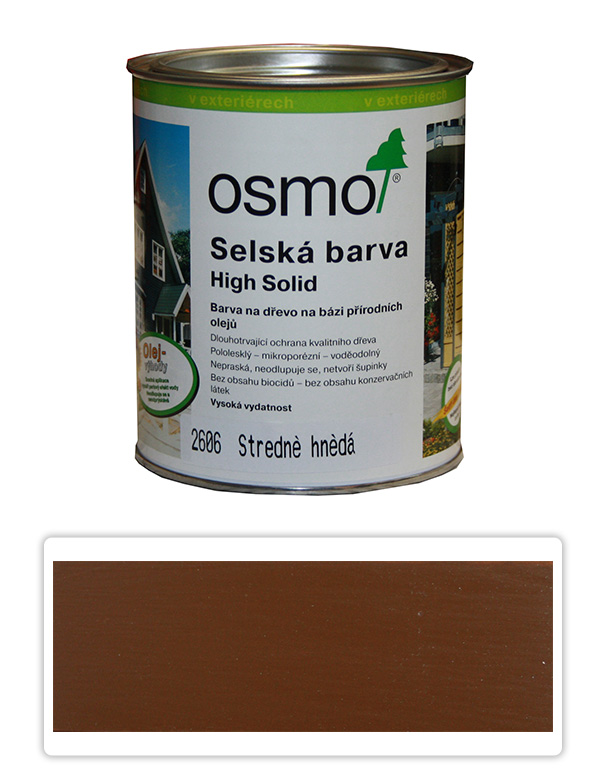 Selská barva OSMO 0.75l Středně hnědá 2606