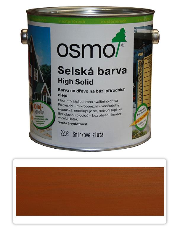 Selská barva OSMO 2.5l Žlutý smrk 2203
