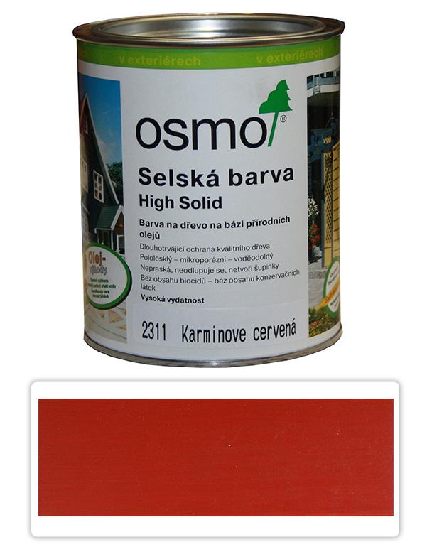 Selská barva OSMO 0.75l Karmín. červeň 2311