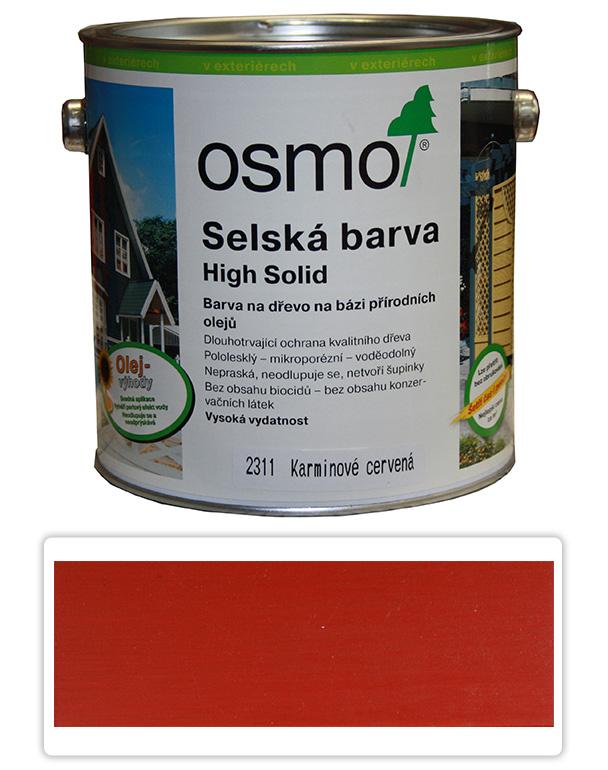 Selská barva OSMO 2.5l Karmín. červená 2311