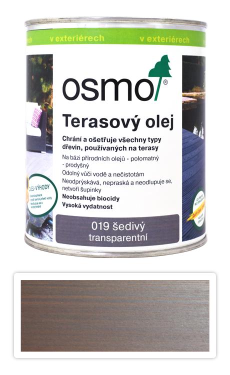 OSMO Terasový olej 0.75 l Šedý 019