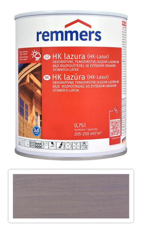REMMERS HK lazura - ochranná lazura na dřevo pro exteriér 0.75 l Stříbrnošedá