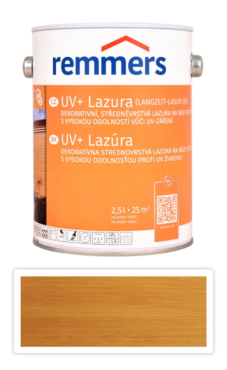 REMMERS UV+ Lazura - dekorativní lazura na dřevo 2.5 l Dub světlý