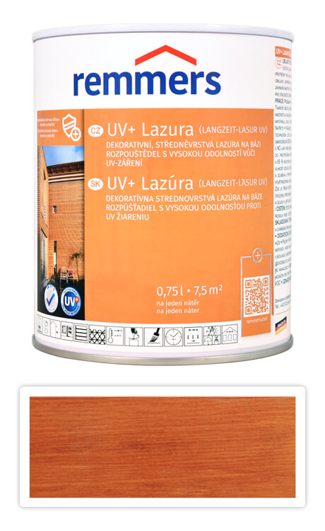 REMMERS UV+ Lazura - dekorativní lazura na dřevo 0.75 l Teak