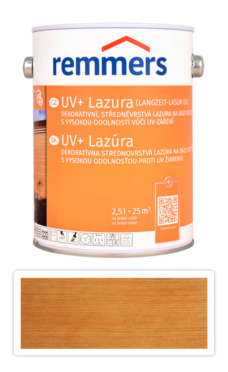 REMMERS UV+ Lazura - dekorativní lazura na dřevo 2.5 l Pinie