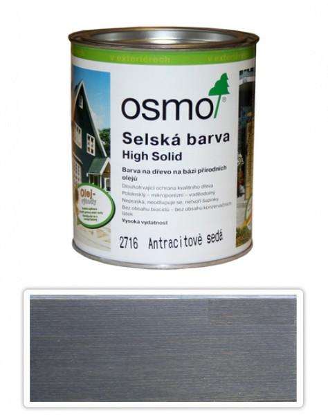 Selská barva OSMO 0.75l Antracitově šedá 2716