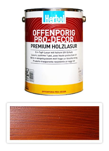 HERBOL Offenporig Pro Decor - univerzální lazura na dřevo 5 l Mahagon 8407