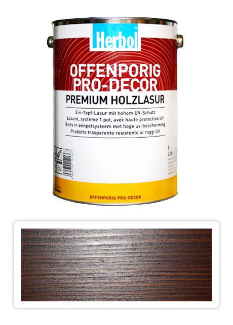 HERBOL Offenporig Pro Decor - univerzální lazura na dřevo 5 l Kaštan 8408