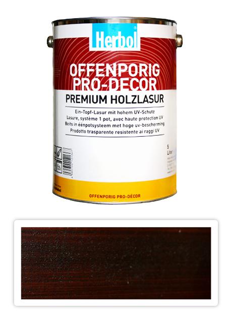 HERBOL Offenporig Pro Decor - univerzální lazura na dřevo 5 l Palisandr 8409