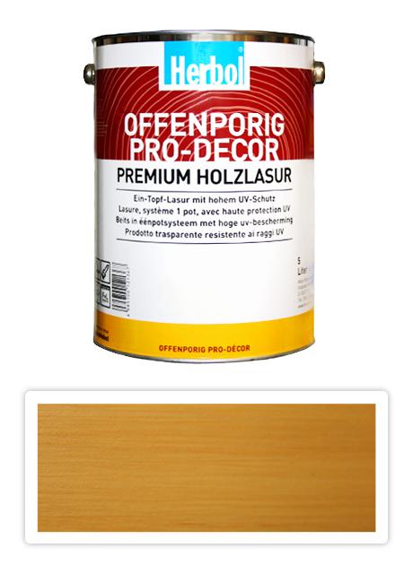 HERBOL Offenporig Pro Decor - univerzální lazura na dřevo 5 l Buk 1300