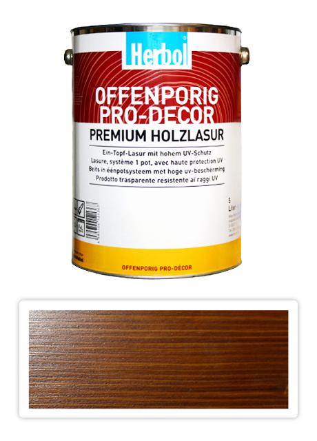 HERBOL Offenporig Pro Decor - univerzální lazura na dřevo 5 l Ořech 8405