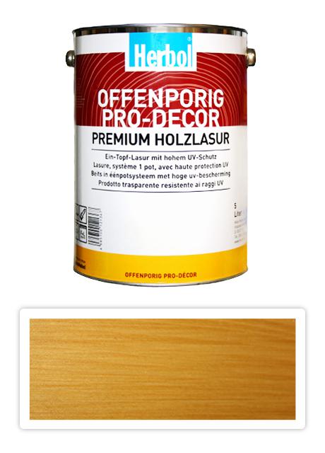 HERBOL Offenporig Pro Decor - univerzální lazura na dřevo 5 l Světlý dub 1401