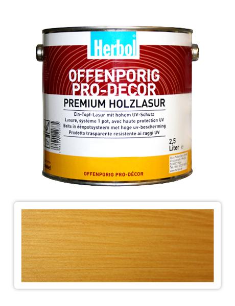 HERBOL Offenporig Pro Decor - univerzální lazura na dřevo 2.5 l Světlý dub 1401