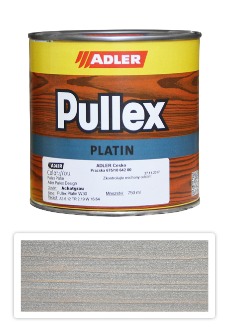 ADLER Pullex Platin 750ml W30 Achatgrau - lazura na dřevo šedý achát