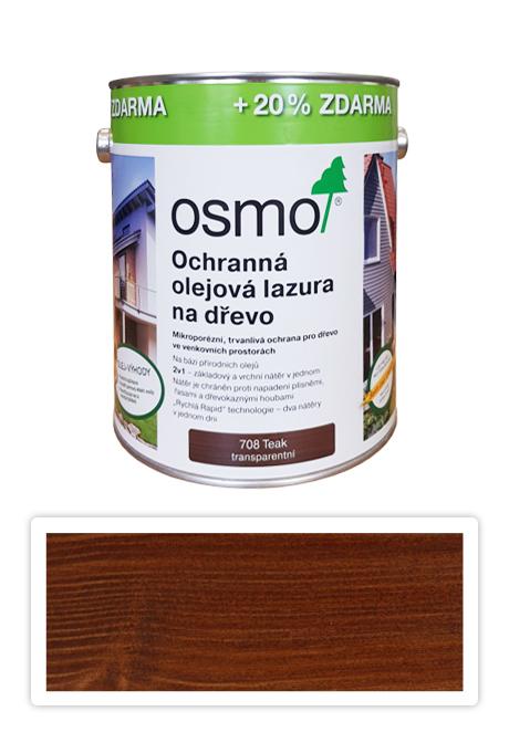 OSMO Ochranná olejová lazura na dřevo Teak 3l 708