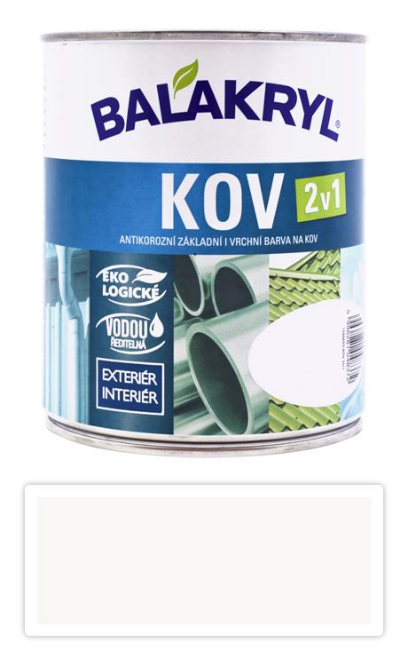 BALAKRYL Kov 2v1 - vodouředitelná antikorozní barva na kov 0.75 l Bílá 0100