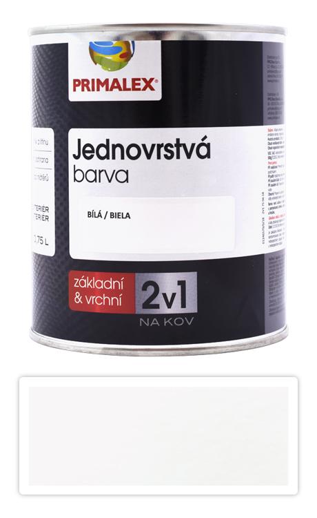 PRIMALEX 2v1 - syntetická antikorozní barva na kov 0.75 l Bílá RAL 9002