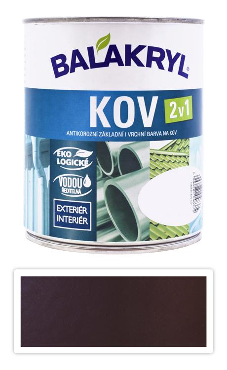 BALAKRYL Kov 2v1 - vodou ředitelná antikorozní barva na kov 0.75 l Tmavě hnědá 0240