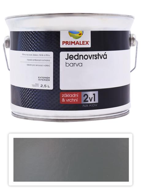 PRIMALEX 2v1 - syntetická antikorozní barva na kov 2.5 l Šedá RAL 7010