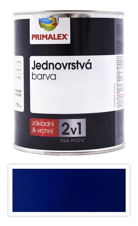 PRIMALEX 2v1 - syntetická antikorozní barva na kov 0.75 l Modrá RAL 5003