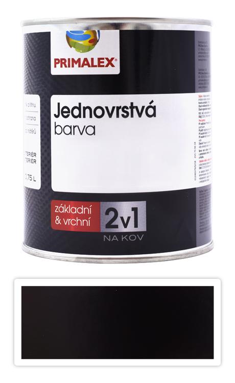 PRIMALEX 2v1 - syntetická antikorozní barva na kov 0.75 l Černá RAL 9005