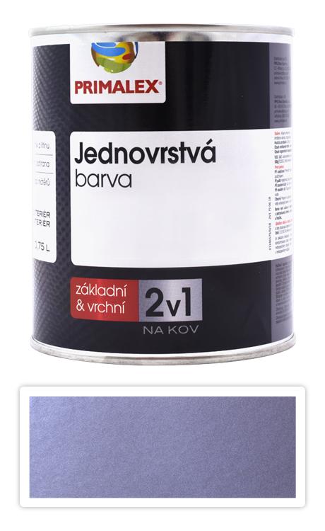 PRIMALEX 2v1 - syntetická antikorozní barva na kov 0.75 l Stříbrná RAL 9006