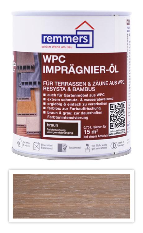 REMMERS WPC Imprägnier Öl - impregnační olej na WPC 0.75 l Hnědá