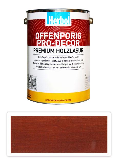 HERBOL Offenporig Pro Decor - univerzální lazura na dřevo 5 l Švédská červená