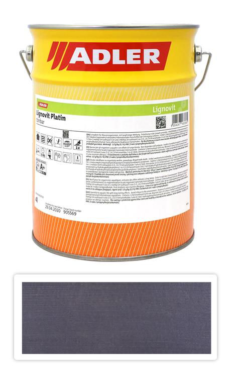 ADLER Lignovit Platin - vodou ředitelná lazura na dřevo 4 l Onyxschwarz 53289