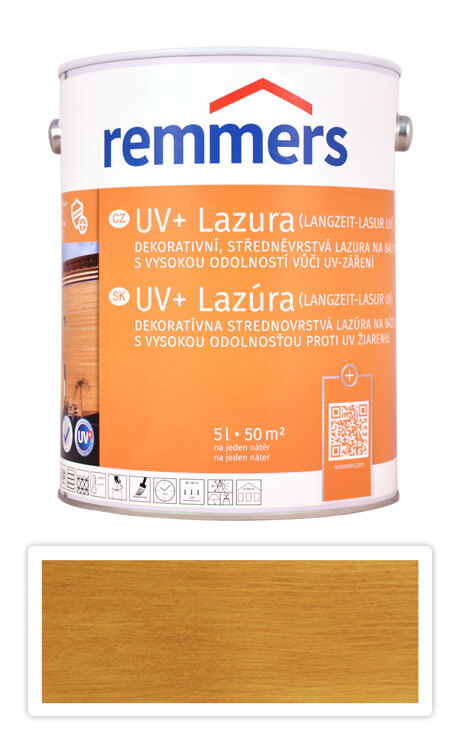 REMMERS UV+ Lazura - dekorativní lazura na dřevo 5 l Dub rustikální