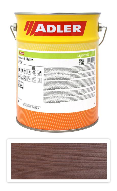 ADLER Lignovit Platin - vodou ředitelná lazura na dřevo 4 l Karneolrot 53319