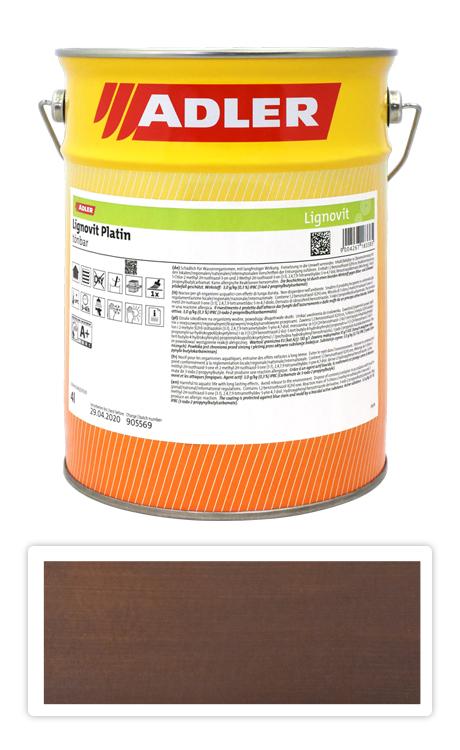 ADLER Lignovit Platin - vodou ředitelná lazura na dřevo 4 l Granatbraun 53318