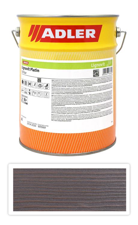 ADLER Lignovit Platin - vodou ředitelná lazura na dřevo 4 l Topasgrau 53317