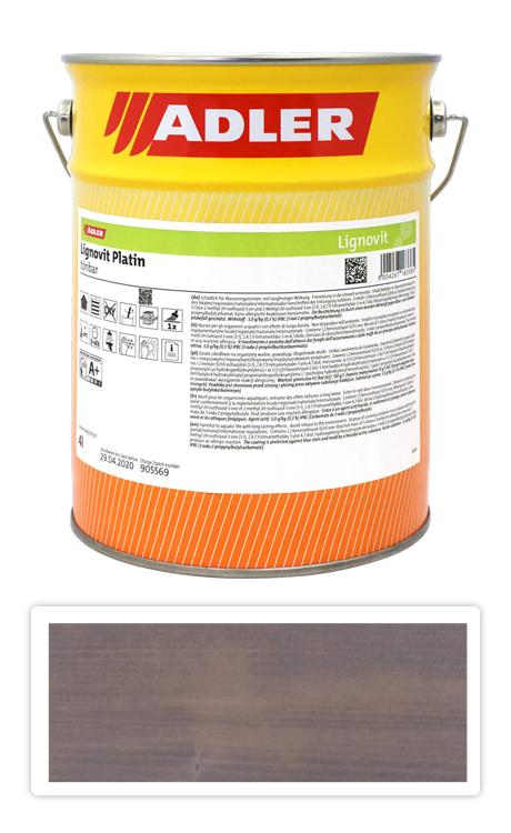 ADLER Lignovit Platin - vodou ředitelná lazura na dřevo 4 l Pyritgrau 53316