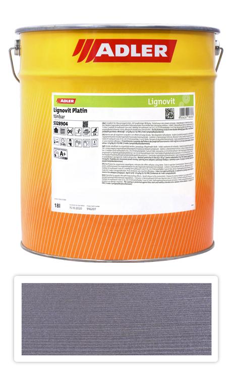 ADLER Lignovit Platin - vodou ředitelná lazura na dřevo 18 l Quarzgrau 53294