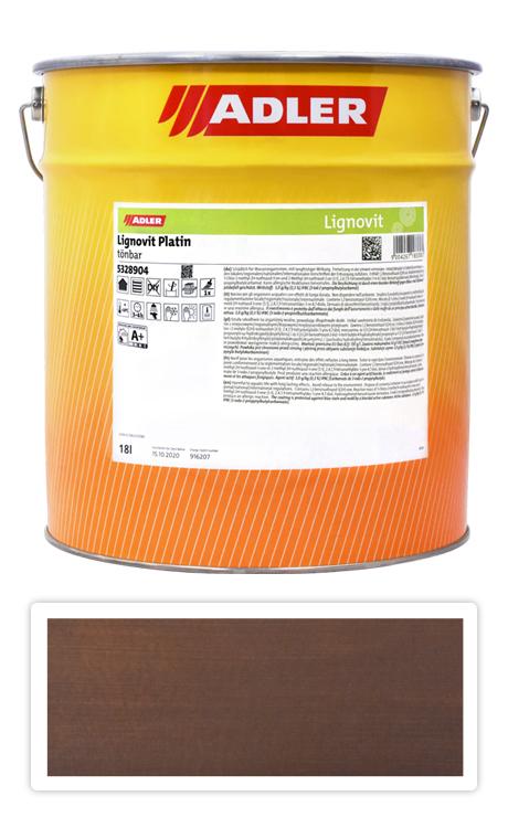 ADLER Lignovit Platin - vodou ředitelná lazura na dřevo 18 l Granatbraun 53318
