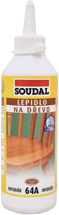 SOUDAL Lepidlo na dřevo 64A rychleschnoucí 250g