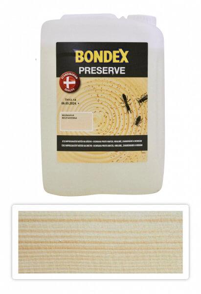 BONDEX Preserve - impregnace dřeva pro exteriéry 5 l Bezbarvá